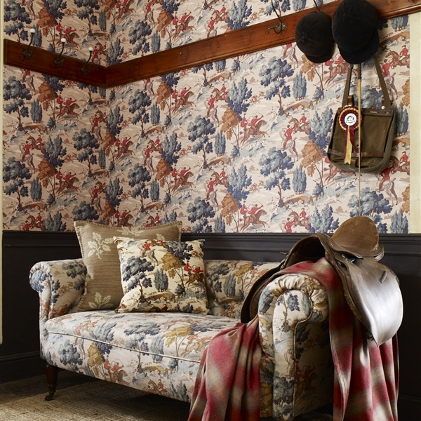 collection sporting life wallpapers style anglais. Black Bedroom Furniture Sets. Home Design Ideas