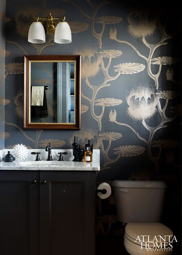 Papier peint Water Lily - Collection Frontier - Cole and Son © Atlanta Homes and Lifestyles