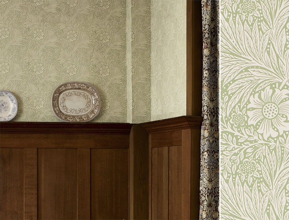 Papier peint Marigold, Collection The Craftsman Wallpapers de Morris & Co, Au fil des Couleurs
