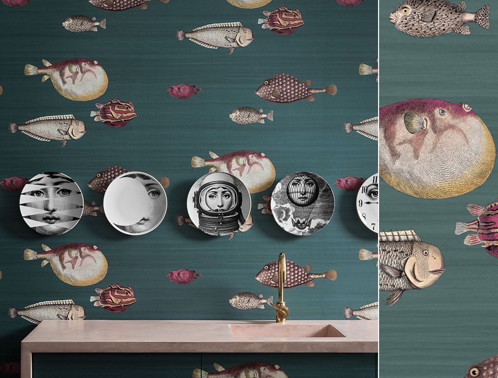 Papier peint Acquario, collection Fornasetti de Cole and Son - Au fil des Couleurs