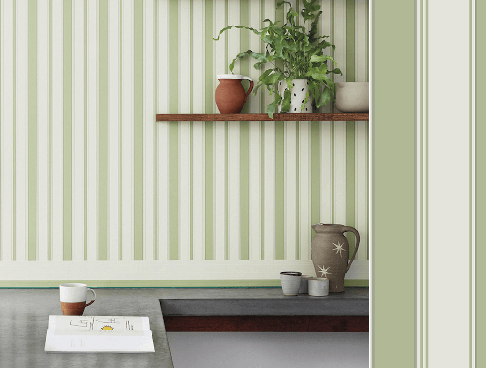 Cambridge Stripe, collection Marquee Stripes de Cole and Son, en vente chez Au fil des Couleurs