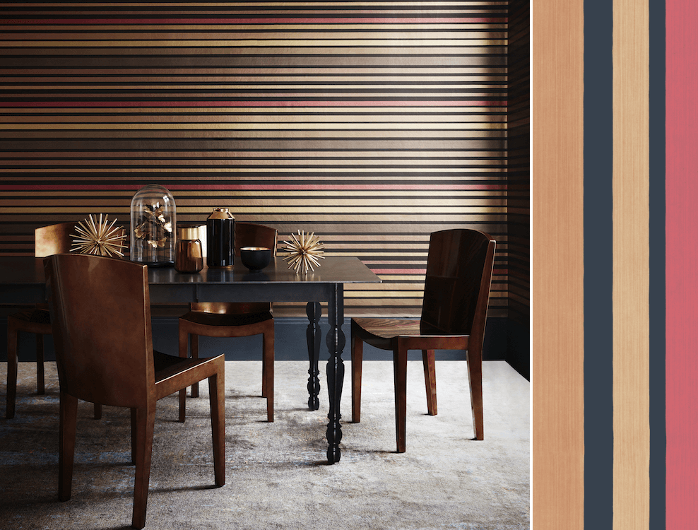 Carousel Stripe, collection Marquee Stripes de Cole and Son, en vente chez Au fil des Couleurs