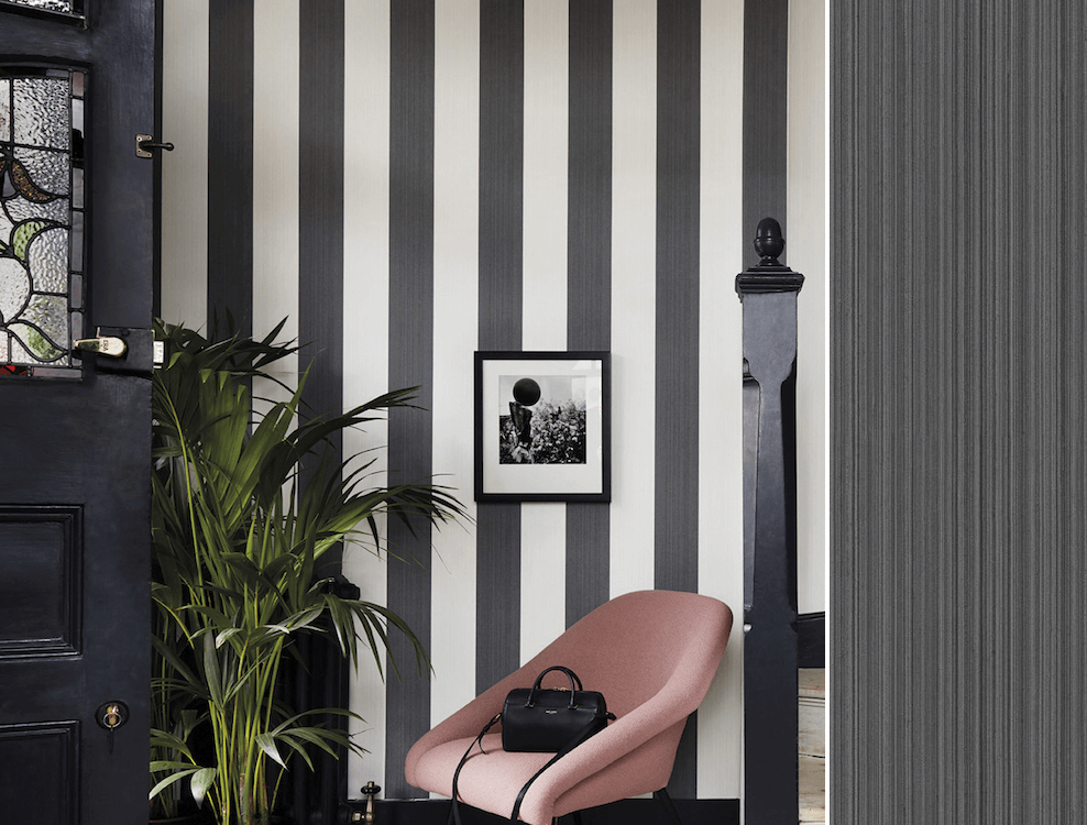 Jaspe Stripe, collection Marquee Stripes de Cole and Son, en vente chez Au fil des Couleurs