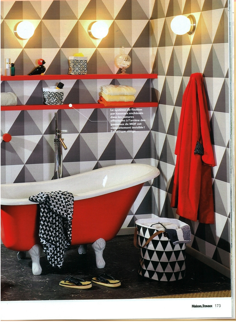 Papier peint Apex de Cole and Son - inspiration salle de bain